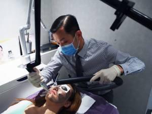 Carbon Peel Laser treatment in progress